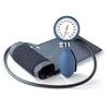 BoSo Clinicus Aneroid Sphygmomanometer with Cuff, Blue Colour Dial Rim and Bulb
