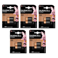 Spare  Duarcell 123 Batteries for Zoll AED Plus (Pack of 10)