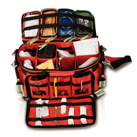 Elite EB02.008 Basic Life Support Emergency Bag with movable internal dividers and colour coded pouches.