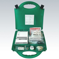 BS8599-1 Medium First Aid Kit with compartments and content diagram showing product locations and quantity