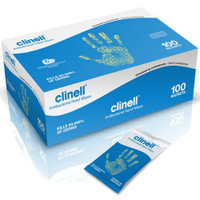 Clinell Hand Cleaning and Disinfectant Wipes in Individual Sachets