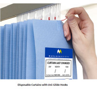 Disposable Curtains with Pop-In and Stackable Glider Design
