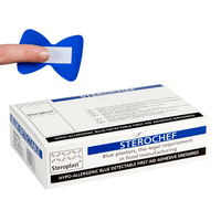 Sterochef Blue Detectable Fingertip Plasters Box of 50