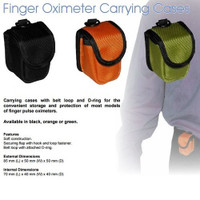 Carry Case for Finger Pulse Oximeters - Green