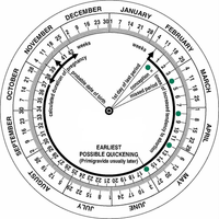 Pregnancy / Gestational / Obstetric Calculator Wheel