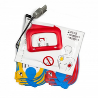Adult Lifepak CR Plus Training Electrodes (5 pairs) with cable, connector and reusable pouch