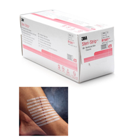 3M Steri Strip Adhesive Skin Closure Strips, 6 x 75mm