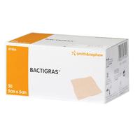 Bactigras  Chlorhexidine Tulle Dressing, Size 5cm x 5cm each, Box of 50