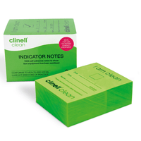 Clinell Clean 'I am Clean' Green Indicator Notes