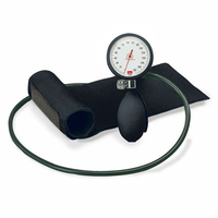 BoSo Clinicus Aneroid Sphygmomanometer with Cuff, Black Colour  Dial Rim and Bulb