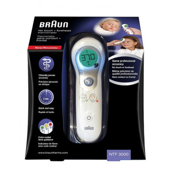 Braun No Touch and Forehead Thermometer NTF3000