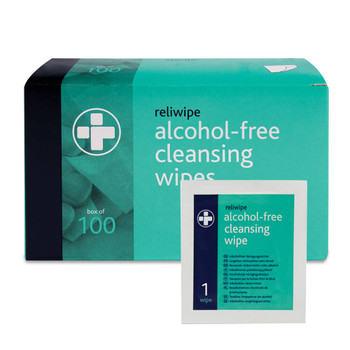 Antiseptic Wipes Alcohol Free 100/pk