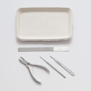 Sterile Podiatry Instrument Pack with a disposable pulp tray