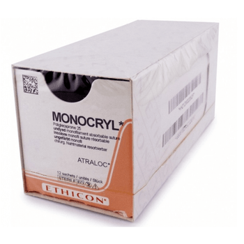 Monocryl absorbable suture size 3-0, length 70cm