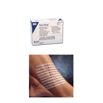 3M Steri Strip Adhesive Skin Closure Strips, 12 x 100mm