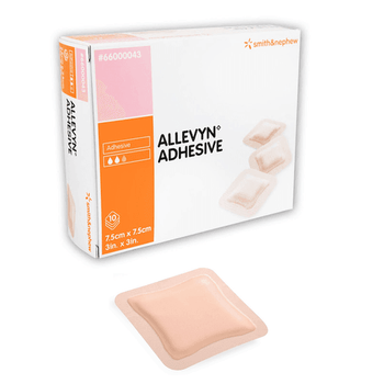 Allevyn Adhesive Foam Dressing, 7.5 x 7.5cm, 10 dressings in a box