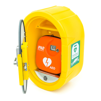DefibSafe 2, External AED Cabinet with Heat Plate to maintain the internal temperature
