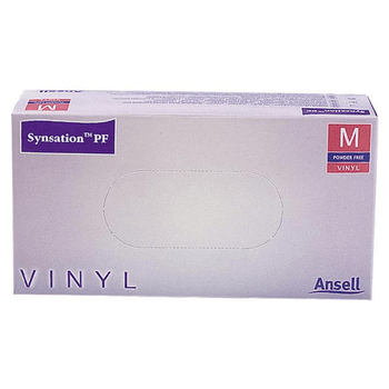 Synsation Vinyl Gloves, Powder Free, Non Sterile,  Small /  Medium /  Large / Extra Large