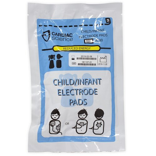Child Defibrillation Pads (9730-002) with reduced energy transmission. For use with Powerheart G3 Defibrillator.