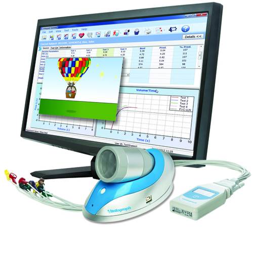 Pneumotrac PC Based Spirometer with Spirotrac Software and ECG
