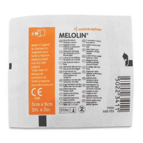 Melolin Dressing 5cm x 5cm, Low adherent and absorbable