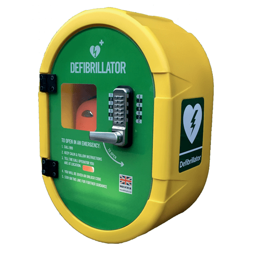 DefibSafe 2, Outdoor AED Cabinet, Heated and with a coded Keypad Lock
