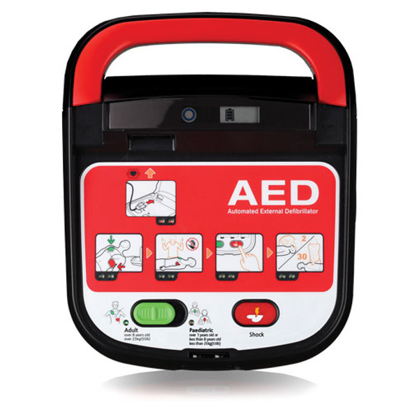 Mediana A15 HeartOn AED with visual icons