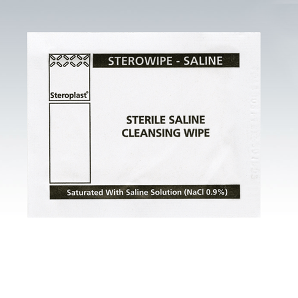 Wound Cleansing Saline Wipes, Pack of 100