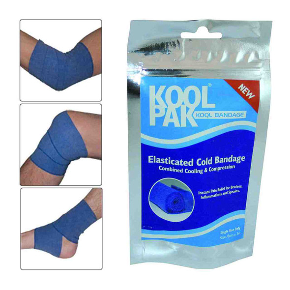 Elasticated Cold Bandage for Compression 7.5cm x 2m - Cooling and compression combined !