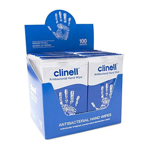 Clinell Hand Wipes in Shelf Ready Tray