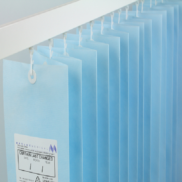 Disposable Curtain Pastel Blue Universal with Eyelet