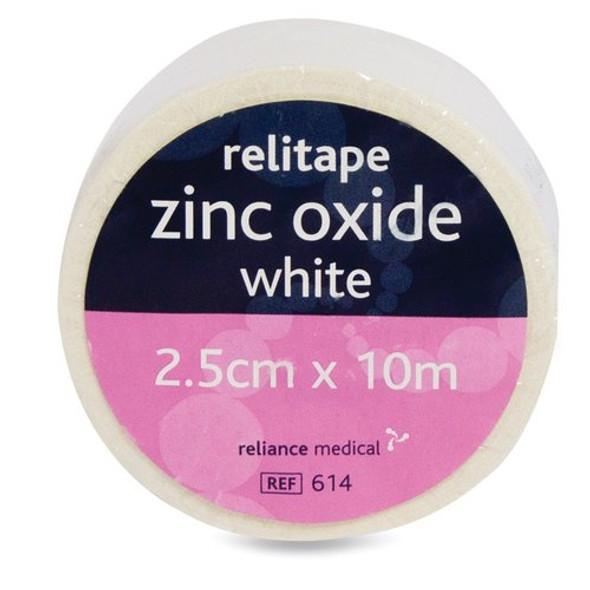 Zinc Oxide Tape 2.5cm x 5m White roll