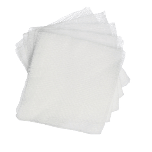 Cotton Gauze Swabs BP 7.5cm x 7.5cm, 8ply, 100/pk