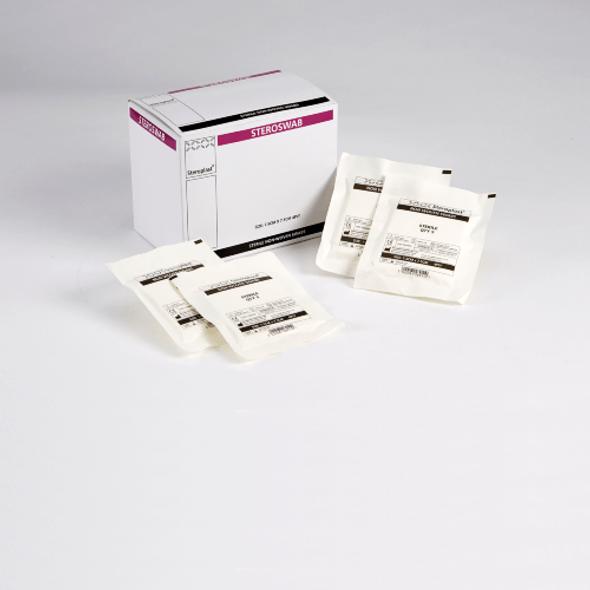 Sterile Non Woven Swabs 10cm x 10cm, 5 swabs each pouch