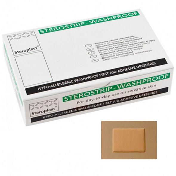 Sterostrip Washproof Plasters, 7.5cm x 5cm, 50/pk