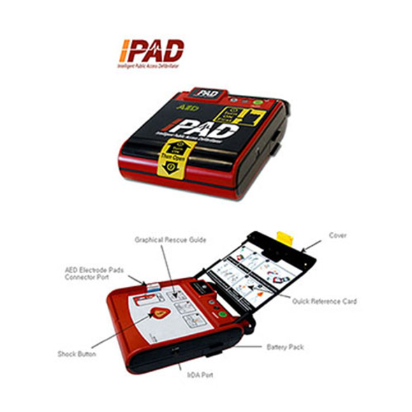 iPAD Saver AED with Graphical Rescue Guide helps minimally trained individuals