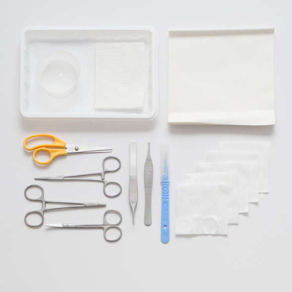 Rocialle Minor Op Pack for Minor surgeries. Sterile Surgical Instruments and Consumables packed as a kit.
