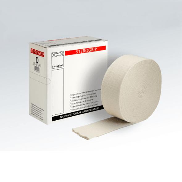 Sterogrip Elasticated Tubular Bandage, Size F, 10cm x 10m