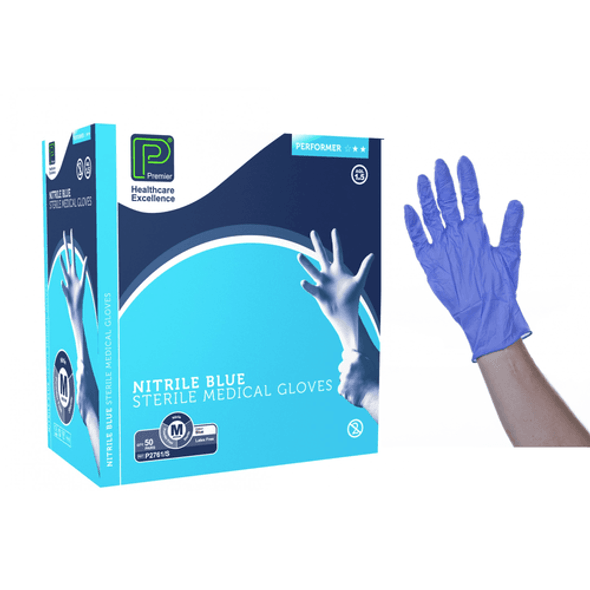 Pair of Nitrile Sterile Gloves - Small / Medium / Large