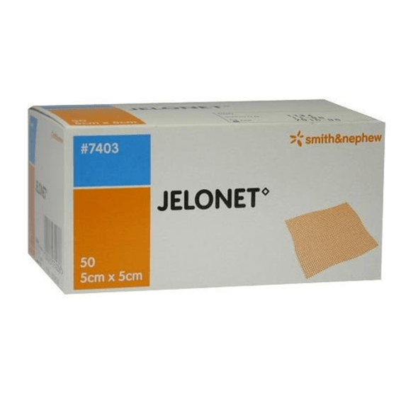 Jelonet Paraffin Gauze Dressing, 5cm x 5cm each, box of 50