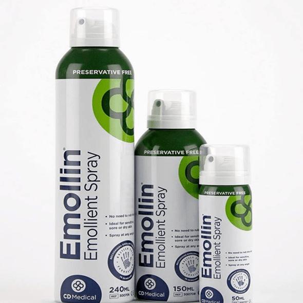 Emollin Emollient Spray - White Soft Paraffin and Liquid Paraffin in a spray form!