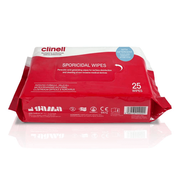 Clinell Sporicidal Wipes - high level disinfectant wipe