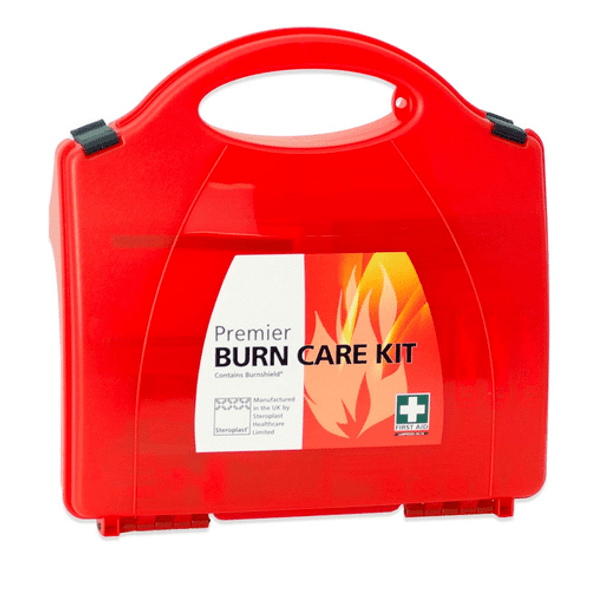 Premier Burns Kit in Red Box with handle and wall bracket