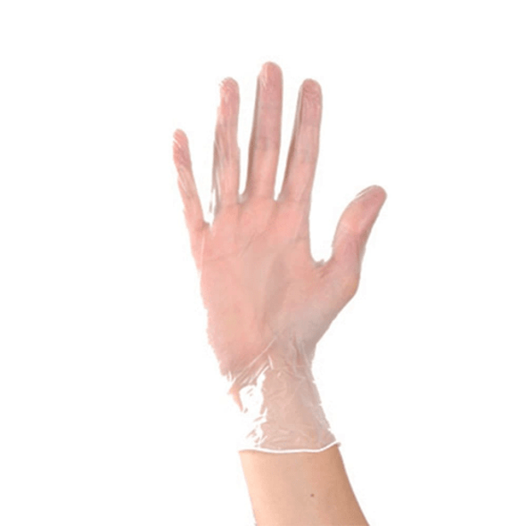 Clear Vinyl Examination Gloves  with tactile sensitivity