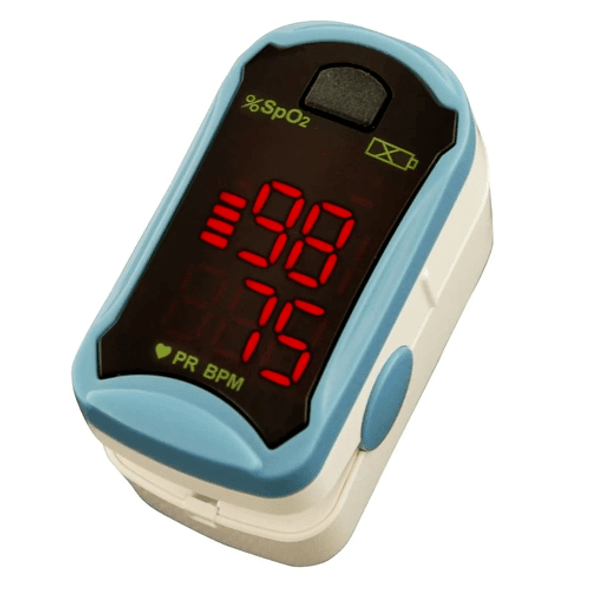 ChoiceMMed MD300C19, Fingertip Pulse Oximeter. Displays SpO2, Pulse Rate, Pulse Bar and Low Battery Indictor