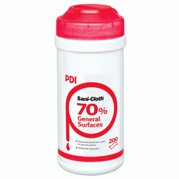 Sani Cloth Wipes for General Surfaces, 70% Alcohol,  200 per Canister