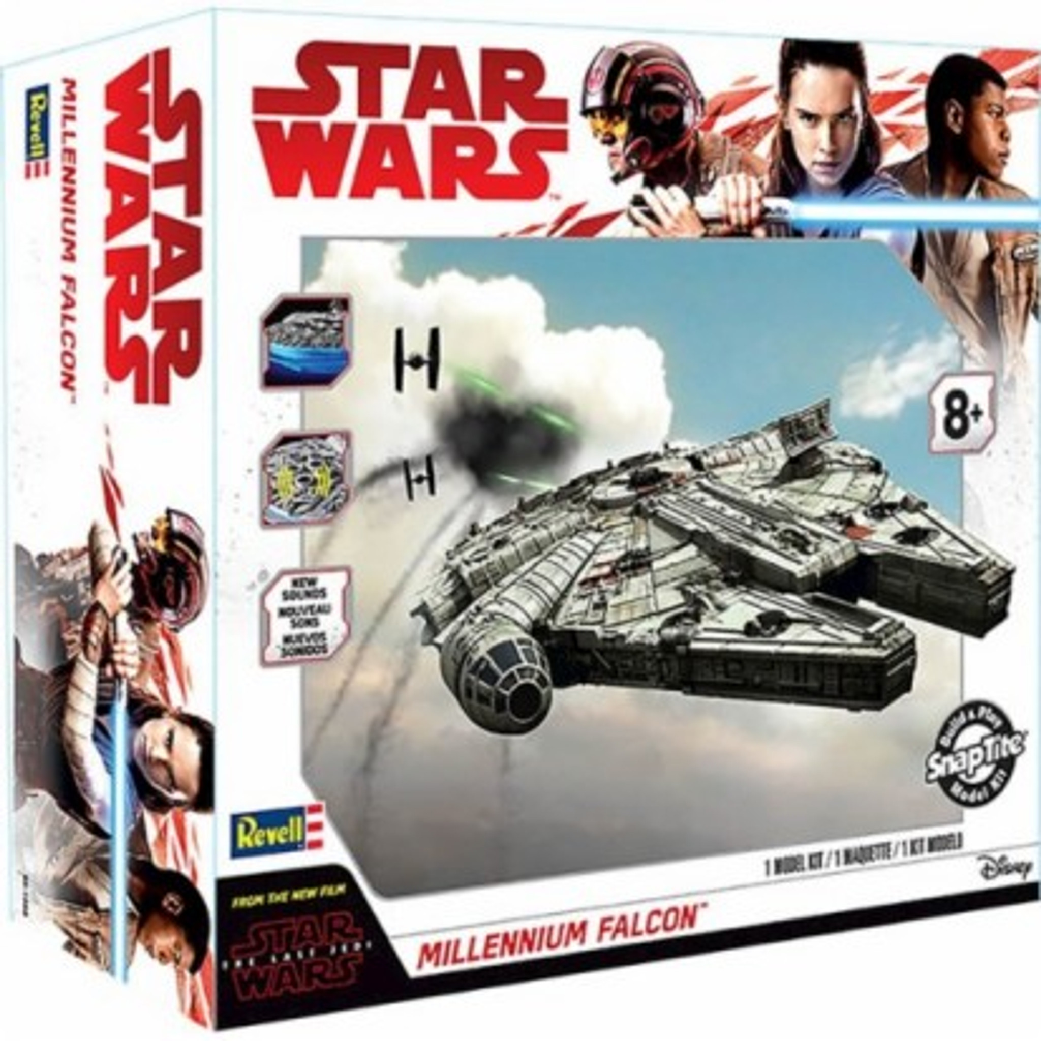 Star Wars The Last Jedi: Millennium Falcon w/Sound & Lights (Build & Play  Snap)