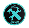 "The Clean Garage Minty Clean Logo Sticker | 3"" Matte Mint and Black"