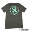 Minty Clean Logo T-Shirt | Grey Heather Mint Ink Detailing Shirt