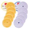 "Rupes Wool Pad Kit 6.75"" | 12 Polishing Pads Yellow and Blue"